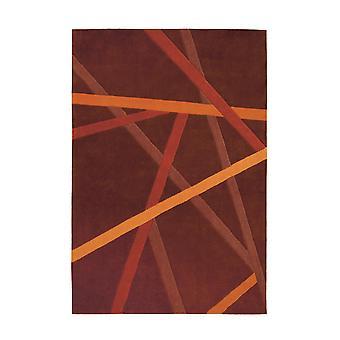 Shilboy Teppich Atos Braun/Orange