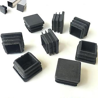 Plastic Blanking End Caps Square Pipe Insert Plugs Bung For Furniture Tables