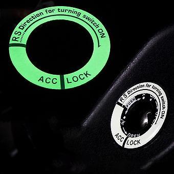 3D جل توهج حلقة مفتاح، التبديل غطاء سيارة التصميم دائرة الديكور الخفيفة