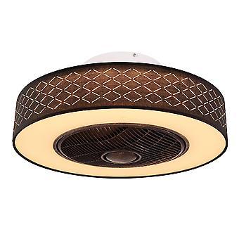 "Ceiling fan Rosario Black 55cm / 22"" with LED light"