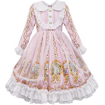 Kids Girls Sweet Lolita Robe Princesse Dentelle Cosplay Costumes