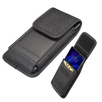 Boîtier de ceinture pour Ulefone Armor X8 (2020) Couverture avec conception de porte-cartes en cuir et nylon vertical