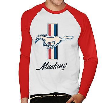Ford Mustang Horse Men's Baseball T-Shirt met lange mouwen