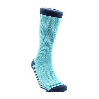 Classic Blue and White Office Socks