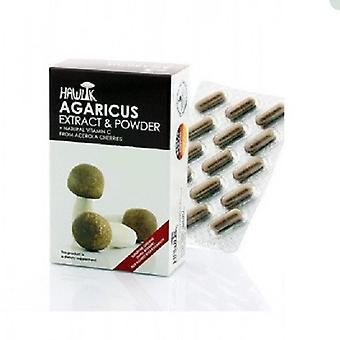 Hawlik Agaricus Subrufescens Extract and Powder 60 Capsules