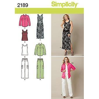 Yksinkertaisuus Ompelu kuvio 2189 Misses Plus Size Mekko Top Housut Koko 20W-28W BB