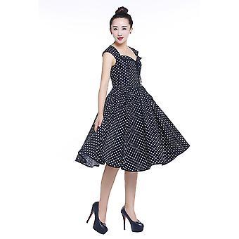 Tyylikäs tähti hihaton levenevä mekko mustissa /törkissä