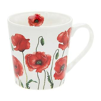 Lesser & Pavey Leonardo Collection Wild Poppy Flower Fine China Mok