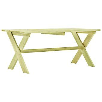 Garden Table 170x73x70 Cm Impregnated Pinewood