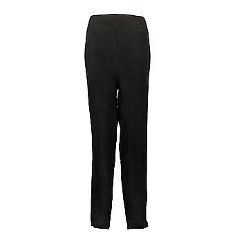 Cuddl Duds Leggings Plus Fleecewear Stretch Pull On Waist Black A342094