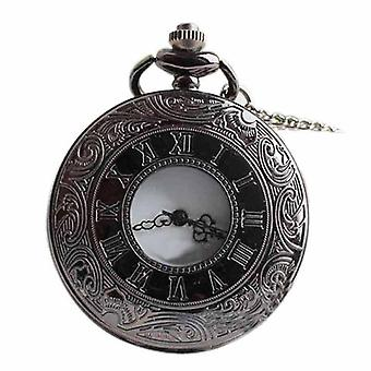 Dual Display Clamshell Rome Retro Hollow Imitation Mechanical Pocket Watch