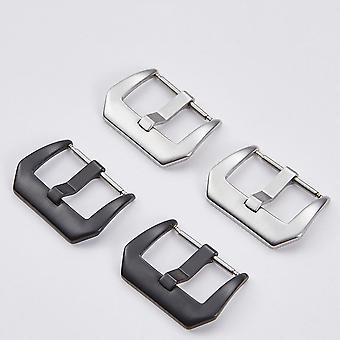 316 Stainless Steel Clasp Accessories - Watchband Strap Silver Black Buckle