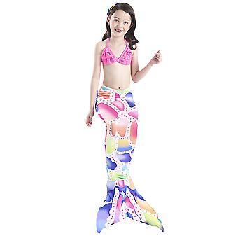 Kinderen zeemeermin staart badpak kostuum cos zeemeermin kan flippers badkleding dragen
