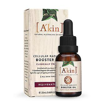 A'kin Cellular Radiance Booster Oil Organic Australian Anit-Ageing Skincare 20ml