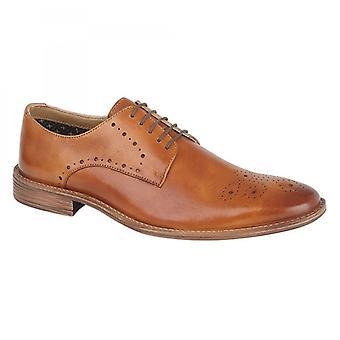 Roamers Khaled Mens Leather 5 Eye Gibson Shoe Tan
