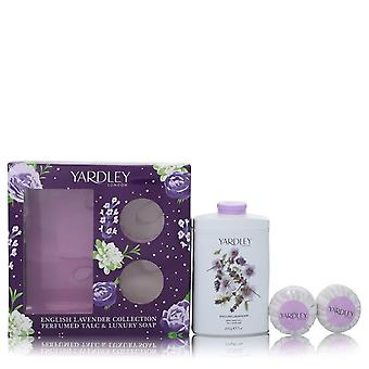 English Lavender by Yardley London Gift Set -- 7 oz Perfumed Talc + 2-3.5 oz Soap