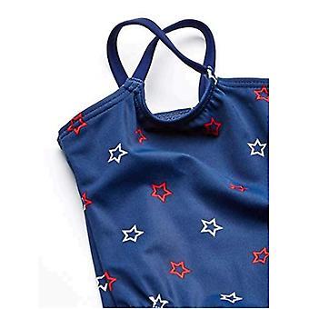 Essentials Baby Girls Maillot de bain one-piece, Blue Stars, 3M