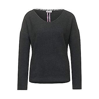Street One 315688 T-Shirt, Melange Anthracite, 42 Woman