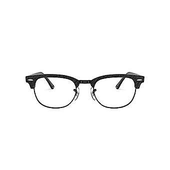 Ray-Ban Rx5154 CLUBMASTER-0RX51548049, ryppyinen musta musta mustalla, 49 Unisex-aikuinen