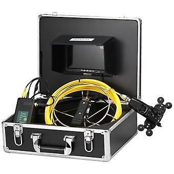 7 tommers 20m rør inspeksjon dobbelt kamera system