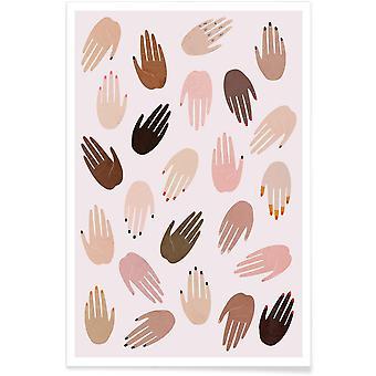 JUNIQE Print - GRRRL - Body Shapes Plakat i Brown