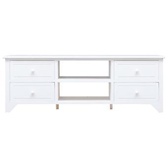 vidaXL TV-kaappi Valkoinen 115x30x40 cm Paulownia Wood
