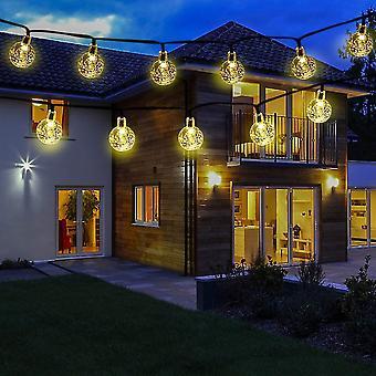 Outdoor solar garl led lantern 6.5m light garl with remote control warm white decoration dt7137
