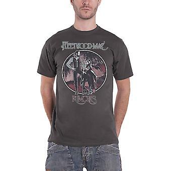 Fleetwood Mac T Shirt Rumours Vintage Band Logo new Official Mens Grey