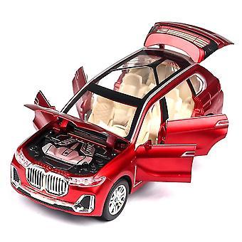 الاطفال سيارة اللعبة ل1:24 BWM X7 معدنية سبيكة سيارة موديل Diecasts الأحمر