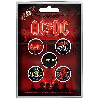 AC/DC - Pack de badges de bouton PWR-UP