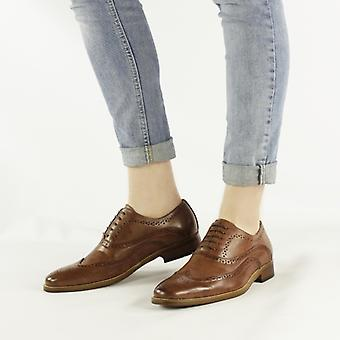 Cipriata Francis Mens Leather Brogue Shoes Brown