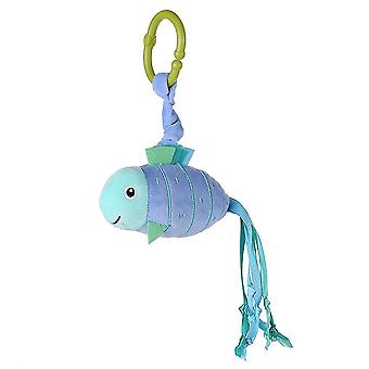 Fish Rattling Doll Cute Baby Hanging Toys With Vibration For Children 0-1 Soft Plush Rattle Toys Blue