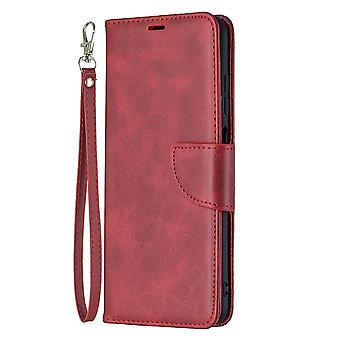 Case Samsung Galaxy A03s Leather Cover Folio Wallet Red
