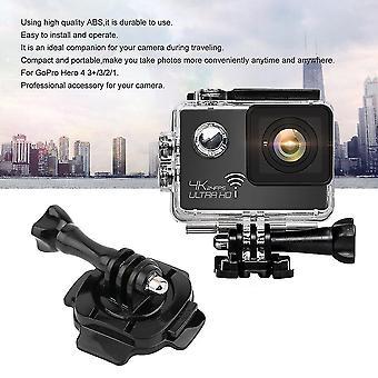 Adaptador de base de montaje Accesorios de casco giratorio de hebilla para la mayoría de las cámaras deportivas