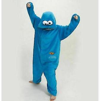 Adult Blue Sesame Street Cookie Elmo Costume(XL)