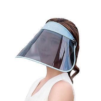 Full Face Head Pvc Shield Cover Solar-reflective Uv-protectant Hat Cap(Blue)