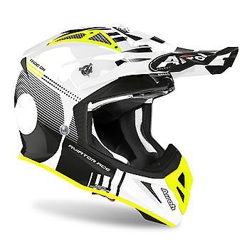 Airoh Aviator Ace Nemesi Off Road Motocross ATV Helmet White Gloss