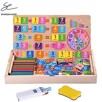 خشبية الأطفال الرياضيات لغز خشبي الاطفال المغناطيسي متعدد الوظائف الحسابية الرقمية| ألعاب الرياضيات