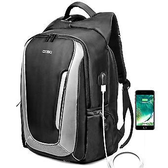 17.3 Inch Laptop Backpack Travel Backpack Nylon Rucksack Water Resistant Daypack-grey