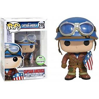 Pop Marvel 219 WWII Captain America The First Avenger ECCC 2017 Spring Convention Exclusive
