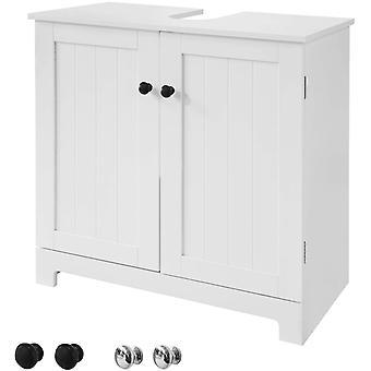 SoBuy BZR18-W, Biały pod umywalką Szafka łazienkowa z drzwiami