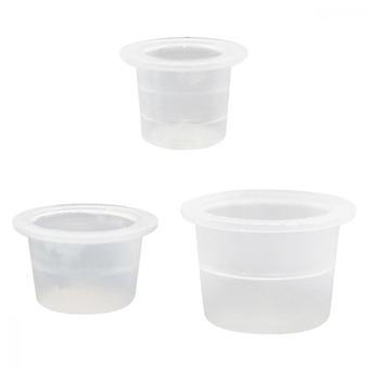Tattoo Ink Cup, 150pcs Plastic Paint Container For Eyebrow Micro Blade Tool, White