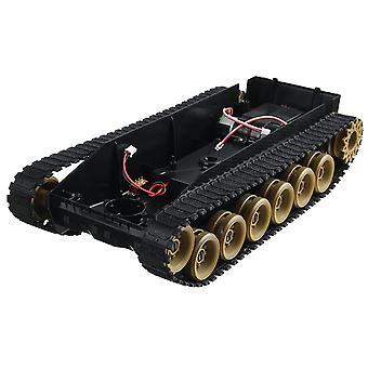 3v-9v Diy Shock Absorbé Smart Robot Tank Crawler Kit de voiture avec moteur