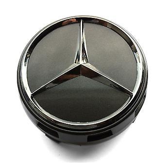 Mercedes Benz AMG Grey Alloy Wheel Centre Caps 75mm Hub Badges