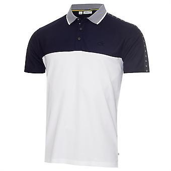 Calvin Klein Golf Heren Snead Polo Shirt Korte Mouw Performance Buttons Top