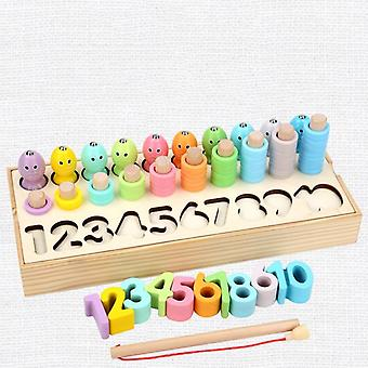 Educational Wooden Toys Geometric Shape Matching Count Magnetic  Toys For Children|Math Toys