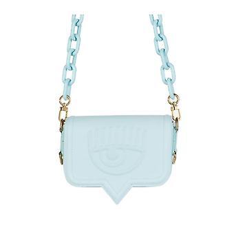 Chiara Ferragni Eyelike Light Blue Small Crossbody Bag