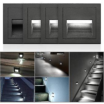 4pcs 3w Led Wandleuchte Cool White Ip65 Wasserdichte Treppenlicht Schrittlicht Aluminium Innen- und Außenbeleuchtung