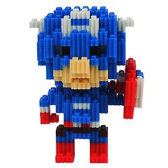 Captain America Lasten koulutuskehitys Älyllinen Lelu Muovi Timantti Pienet hiukkaset Rakennuspalikat 3D KokoonpanoMalli