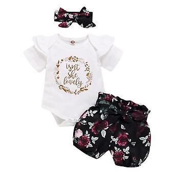 Baby Mädchen Kleidung Outfits, Rüschen Strampler Hose